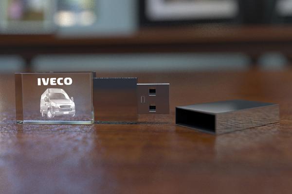 Skleněný produkt USB klíčenka 1 – GLA0006