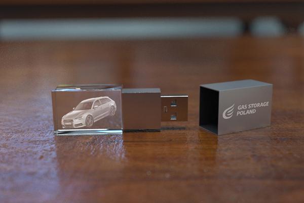 Skleněný produkt USB klíčenka 2 – GLA0006